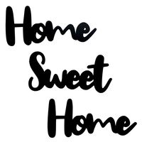 "Панно ""Home Sweet Home"" (черное)"