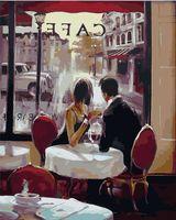 """Картина по номерам """"Свидание в кафе"""" (400х500 мм)"""