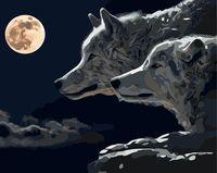 """Картина по номерам """"Волки"""" (400х500 мм)"""