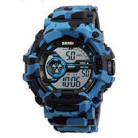 Часы наручные (камуфляжные синие; арт. SKMEI 1233-2)