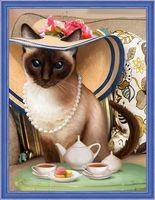 "Алмазная вышивка-мозаика ""Чаепитие у кошки"" (300х400 мм)"