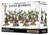 Warhammer Age of Sigmar. Bonesplitterz. Savage Boarboys (89-20)