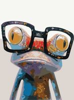 "Картина по номерам ""Умный лягушонок"" (300х400 мм)"