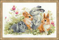 "Вышивка крестом ""Забавные крольчата"" (400х250 мм)"