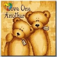 """Картина по номерам """"Любите друг друга"""" (400x400 мм; арт. HB4040043)"""