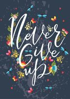 "Открытка ""Never Give Up"""
