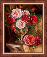 """Алмазная вышивка-мозаика """"Благородные розы"""" (300х400 мм)"""