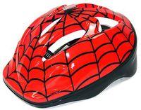 Шлем велосипедный детский (красно-чёрно-белый; арт. T-1)