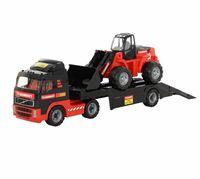 """Игровой набор """"Автомобиль-трейлер и трактор-погрузчик. Volvo"""""""