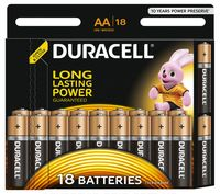 Батарейка DURACELL AA LR6 MN1500 Alkaline (18 шт)