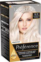 """Краска для волос """"Preference"""" (тон: 11.11, пепельный ультраблонд)"""