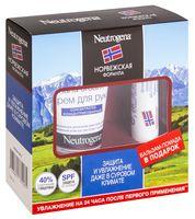 """Подарочный набор """"Neutrogena"""" (бальзам для губ, крем для рук)"""