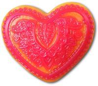 """Форма для изготовления мыла """"Сердце с орнаментом"""""""