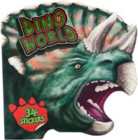 """Раскраска """"Dino World. Мир динозавров"""" (с наклейками)"""