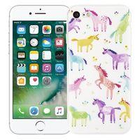 """Чехол для iPhone 7/8 """"Акварельные единороги"""" (белый)"""