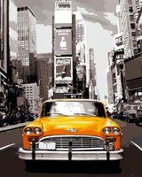 """Картина по номерам """"Ретро такси"""" (400х500 мм)"""