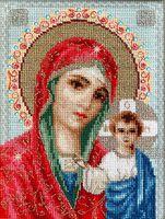 """Вышивка крестом """"Икона Казанской Божией Матери"""" (155х210 мм)"""
