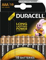 Батарейка DURACELL AAA LR03 MN1500 Alkaline (18 шт)