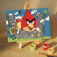 """Картина по номерам """"Angry Birds"""" (100x150 мм; арт. MA206)"""