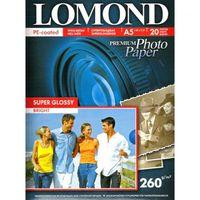 Фотобумага суперглянцевая односторонняя Lomond (20 листов, 260г/м2, формат А6)