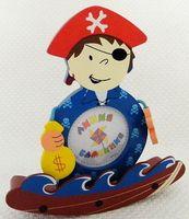 """Рамка для фото деревянная """"Пират"""" (18*18 см)"""
