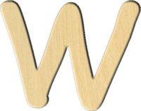 """Заготовка деревянная """"Английский алфавит. Буква W"""" (61х70 мм)"""