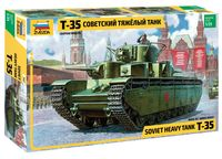 Советский тяжелый танк Т-35 (масштаб: 1/35)
