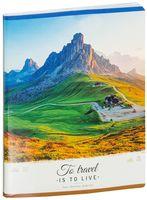 """Тетрадь общая в клетку """"To Travel Is to Live"""" (96 листов; в ассортименте)"""