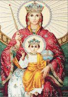 """Вышивка крестом """"Икона Божией Матери. Державная"""" (205х305 мм)"""