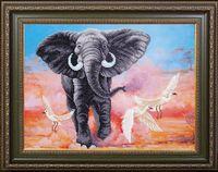 """Вышивка бисером """"Африканский слон"""""""