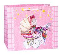 """Подарочный пакет """"Розовая коляска"""" (40,6х33х16 см)"""