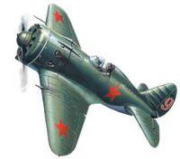 Советский истребитель II МВ И-16 тип 18 (масштаб: 1/72)