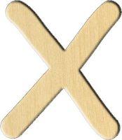 """Заготовка деревянная """"Английский алфавит. Буква X"""" (56х70 мм)"""