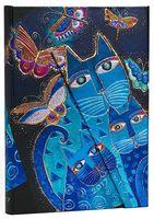 "Еженедельник Paperblanks ""Синие кошки и бабочки"" на 2017 год (формат: 130x180 мм, миди)"