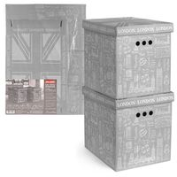 """Набор коробок складных """"London"""" (2 шт.; 280х380х315 мм)"""
