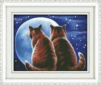 """Алмазная вышивка-мозаика """"Влюблённые коты"""" (500х400 мм)"""