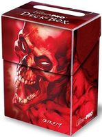 """Коробочка для карт """"Skull"""" (80 карт; красно-фиолетовый)"""