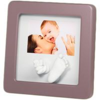 """Барельеф гипсовый """"Рамка Photo Sculpture с 3D-отпечатками на 2 слепка"""" (серая)"""