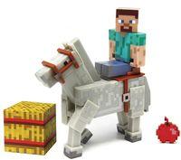 """Фигурка """"Minecraft. Steve With White Horse"""" (8 см)"""