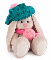 """Мягкая игрушка """"Зайка Ми в зеленой кепке и розовом шарфе"""" (23 см)"""