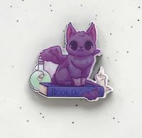 "Значок ""Котёнок с крыльями"" (арт. 569)"