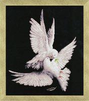 """Вышивка крестом """"Моя голубка"""" (400х320 мм)"""