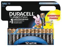 Батарейка DURACELL TURBO AAA LR03 Alkaline (12 штук)