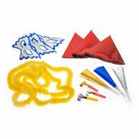 Набор для праздника (3 маски, 3 колпака, 3 дудки, 3 язычка, 3 украшения на шею)