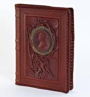 Обложка с недатированным ежедневником большим (коричневая, 008-10-07-14)