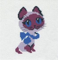 "Вышивка крестом ""Котёнок"" (190х190 мм)"
