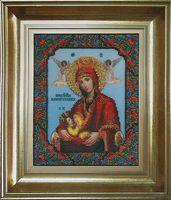 """Вышивка бисером """"Икона Божьей Матери. Млекопитательница"""" (173х217 мм)"""