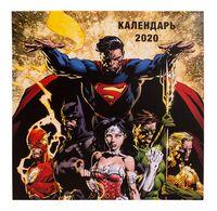 """Календарь настенный перекидной на 2020 год """"Вселенная DC Comics"""" (30х30 см)"""
