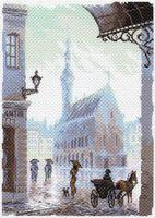 "Канва с нанесенным рисунком ""Старый город"" (арт. 1643)"
