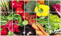 "Экран защитный кухонный ""Овощи"" (45х75 см)"